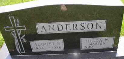 ANDERSON, HILDA W - McCook County, South Dakota   HILDA W ANDERSON - South Dakota Gravestone Photos