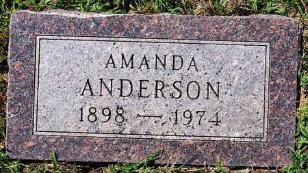 ANDERSON, AMANDA - McCook County, South Dakota   AMANDA ANDERSON - South Dakota Gravestone Photos