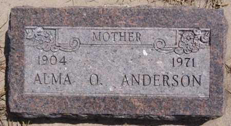 ANDERSON, ALMA O - McCook County, South Dakota   ALMA O ANDERSON - South Dakota Gravestone Photos