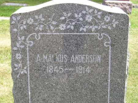 ANDERSON, A. MALKUS - McCook County, South Dakota   A. MALKUS ANDERSON - South Dakota Gravestone Photos