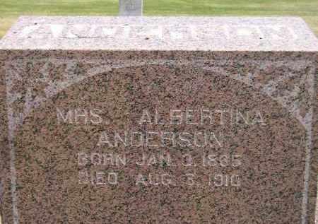 ANDERSON, ALBERTINA - McCook County, South Dakota   ALBERTINA ANDERSON - South Dakota Gravestone Photos