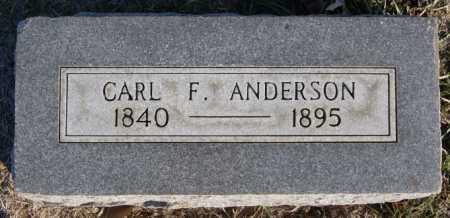ANDERSON, CARL F - McCook County, South Dakota | CARL F ANDERSON - South Dakota Gravestone Photos