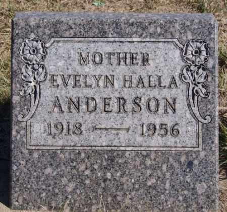 HALLA ANDERSON, EVELYN - McCook County, South Dakota | EVELYN HALLA ANDERSON - South Dakota Gravestone Photos