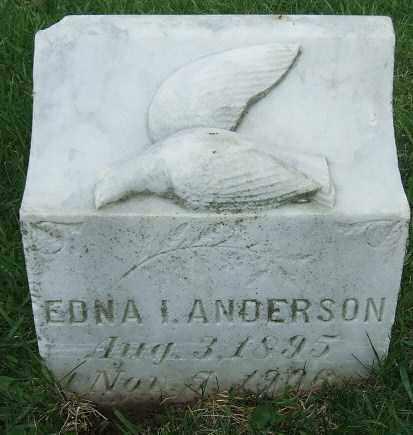 ANDERSON, EDNA I. - McCook County, South Dakota | EDNA I. ANDERSON - South Dakota Gravestone Photos