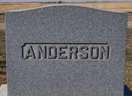 ANDERSON, FAMILY MARKER - McCook County, South Dakota | FAMILY MARKER ANDERSON - South Dakota Gravestone Photos