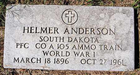 ANDERSON, HELMER (WWI) - McCook County, South Dakota   HELMER (WWI) ANDERSON - South Dakota Gravestone Photos
