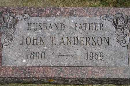 ANDERSON, JOHN T. - McCook County, South Dakota | JOHN T. ANDERSON - South Dakota Gravestone Photos