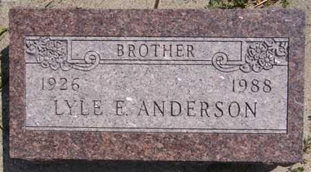ANDERSON, LYLE E. - McCook County, South Dakota   LYLE E. ANDERSON - South Dakota Gravestone Photos