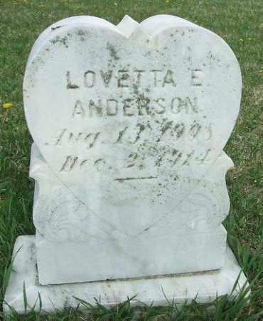 ANDERSON, LOVETTA E. - McCook County, South Dakota | LOVETTA E. ANDERSON - South Dakota Gravestone Photos