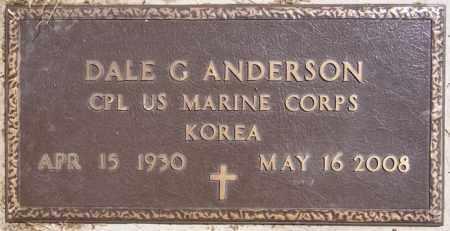 ANDERSON, DALE G (KOREA) - McCook County, South Dakota | DALE G (KOREA) ANDERSON - South Dakota Gravestone Photos