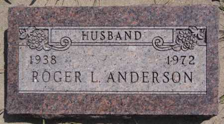 ANDERSON, ROGER L. - McCook County, South Dakota | ROGER L. ANDERSON - South Dakota Gravestone Photos