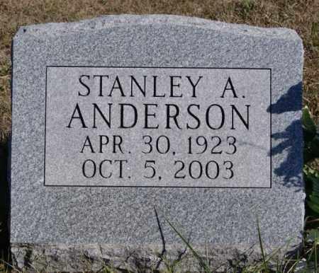 ANDERSON, STANLEY A - McCook County, South Dakota   STANLEY A ANDERSON - South Dakota Gravestone Photos