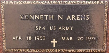 ARENS, KENNETH N (MILITARY) - McCook County, South Dakota   KENNETH N (MILITARY) ARENS - South Dakota Gravestone Photos