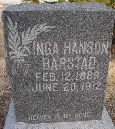 BARSTAD, INGA - McCook County, South Dakota   INGA BARSTAD - South Dakota Gravestone Photos