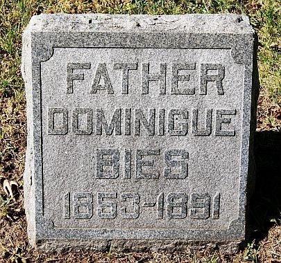 BIES, DOMINIGUE - McCook County, South Dakota | DOMINIGUE BIES - South Dakota Gravestone Photos