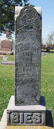 BIES, ELIZABETH T - McCook County, South Dakota | ELIZABETH T BIES - South Dakota Gravestone Photos