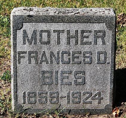 BIES, FRANCES D - McCook County, South Dakota   FRANCES D BIES - South Dakota Gravestone Photos