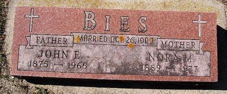 BIES, JOHN E - McCook County, South Dakota | JOHN E BIES - South Dakota Gravestone Photos