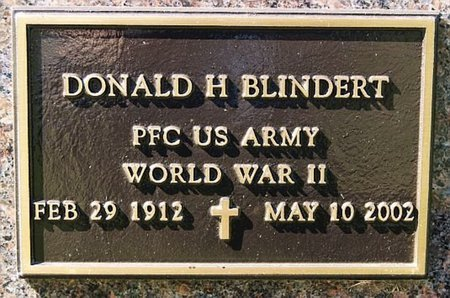 BLINDERT, DONALD H (WWII) - McCook County, South Dakota | DONALD H (WWII) BLINDERT - South Dakota Gravestone Photos