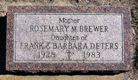 DETERS BREWER, ROSEMARY M - McCook County, South Dakota | ROSEMARY M DETERS BREWER - South Dakota Gravestone Photos