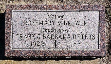 BREWER, ROSEMARY M - McCook County, South Dakota | ROSEMARY M BREWER - South Dakota Gravestone Photos