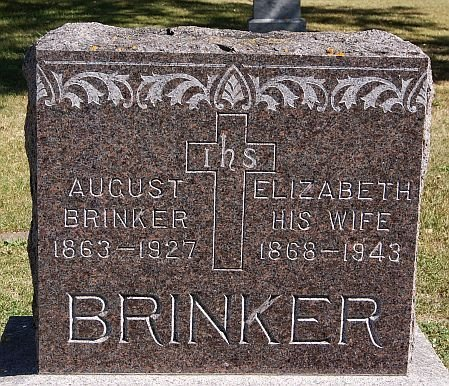 BRINKER, AUGUST - McCook County, South Dakota | AUGUST BRINKER - South Dakota Gravestone Photos