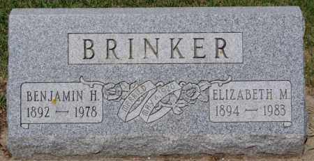 BRINKER, ELIZABETH M - McCook County, South Dakota | ELIZABETH M BRINKER - South Dakota Gravestone Photos