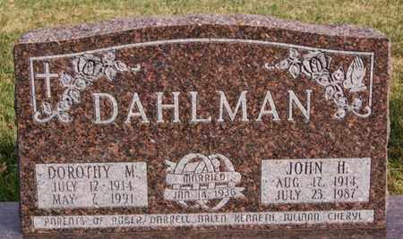 DAHLMAN, DOROTHY M - McCook County, South Dakota | DOROTHY M DAHLMAN - South Dakota Gravestone Photos