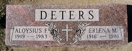 DETERS, ALOYSIUS F - McCook County, South Dakota | ALOYSIUS F DETERS - South Dakota Gravestone Photos