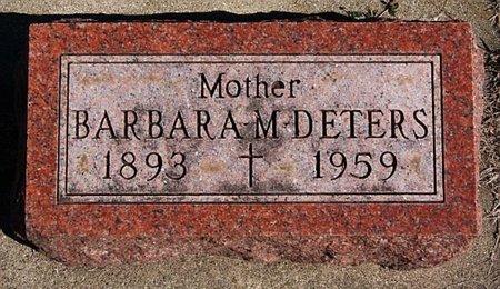 DETERS, BARBARA M - McCook County, South Dakota   BARBARA M DETERS - South Dakota Gravestone Photos