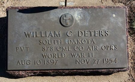 DETERS, WILLIAM C (WWII) - McCook County, South Dakota | WILLIAM C (WWII) DETERS - South Dakota Gravestone Photos