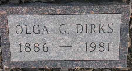 DIRKS, OLGA C. - McCook County, South Dakota   OLGA C. DIRKS - South Dakota Gravestone Photos