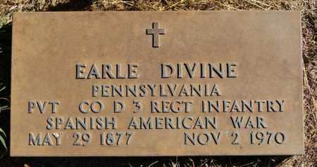 DIVINE, EARLE (SPANISH AMERICAN WAR) - McCook County, South Dakota   EARLE (SPANISH AMERICAN WAR) DIVINE - South Dakota Gravestone Photos