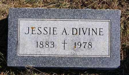 DIVINE, JESSIE A - McCook County, South Dakota   JESSIE A DIVINE - South Dakota Gravestone Photos
