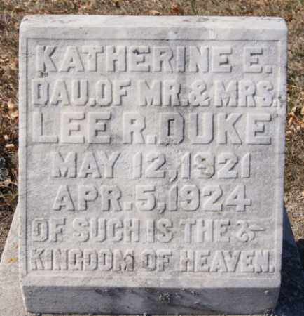 DUKE, KATHERINE E - McCook County, South Dakota | KATHERINE E DUKE - South Dakota Gravestone Photos