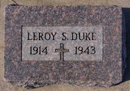 DUKE, LEROY - McCook County, South Dakota   LEROY DUKE - South Dakota Gravestone Photos