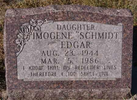 SCHMIDT EDGAR, IMOGENE - McCook County, South Dakota | IMOGENE SCHMIDT EDGAR - South Dakota Gravestone Photos