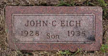 EICH, JOHN C - McCook County, South Dakota   JOHN C EICH - South Dakota Gravestone Photos