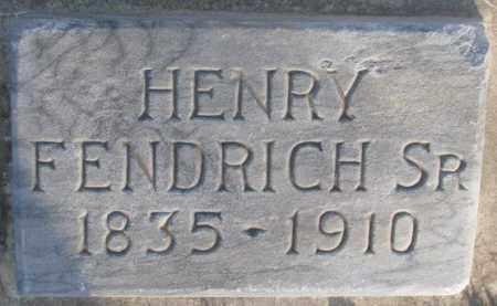 FENDRICH, HENRY SR. - McCook County, South Dakota | HENRY SR. FENDRICH - South Dakota Gravestone Photos