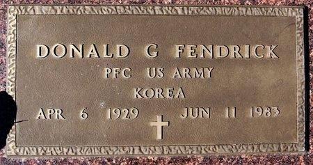 FENDRICK, DONALD G (KOREA) - McCook County, South Dakota | DONALD G (KOREA) FENDRICK - South Dakota Gravestone Photos