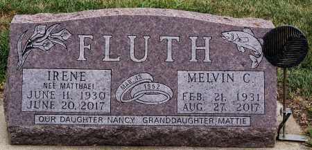 MATTHAEI FLUTH, IRENE - McCook County, South Dakota | IRENE MATTHAEI FLUTH - South Dakota Gravestone Photos