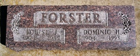 FORSTER, LOUISE J - McCook County, South Dakota | LOUISE J FORSTER - South Dakota Gravestone Photos