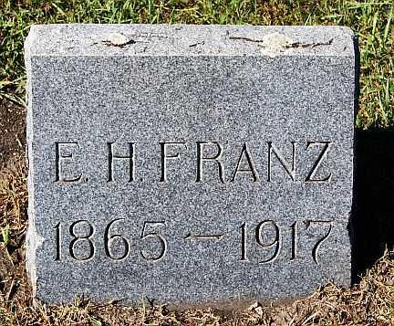 FRANZ, E H - McCook County, South Dakota | E H FRANZ - South Dakota Gravestone Photos