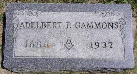 GAMMONS, ADELBERT E - McCook County, South Dakota   ADELBERT E GAMMONS - South Dakota Gravestone Photos