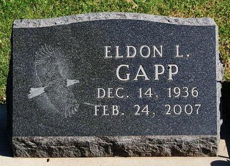 GAPP, ELDON L - McCook County, South Dakota   ELDON L GAPP - South Dakota Gravestone Photos