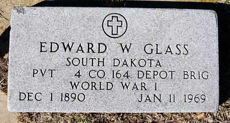 GLASS, EDWARD W (WWI) - McCook County, South Dakota | EDWARD W (WWI) GLASS - South Dakota Gravestone Photos
