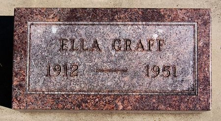 GRAFF, ELLA - McCook County, South Dakota | ELLA GRAFF - South Dakota Gravestone Photos