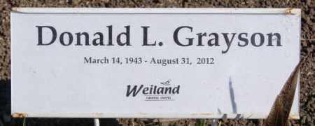 GRAYSON, DONALD L - McCook County, South Dakota | DONALD L GRAYSON - South Dakota Gravestone Photos