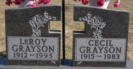 GRAYSON, CECIL - McCook County, South Dakota | CECIL GRAYSON - South Dakota Gravestone Photos