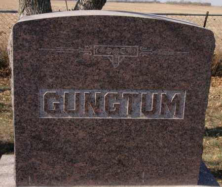 GUNGTUM, FAMILY MARKER - McCook County, South Dakota | FAMILY MARKER GUNGTUM - South Dakota Gravestone Photos